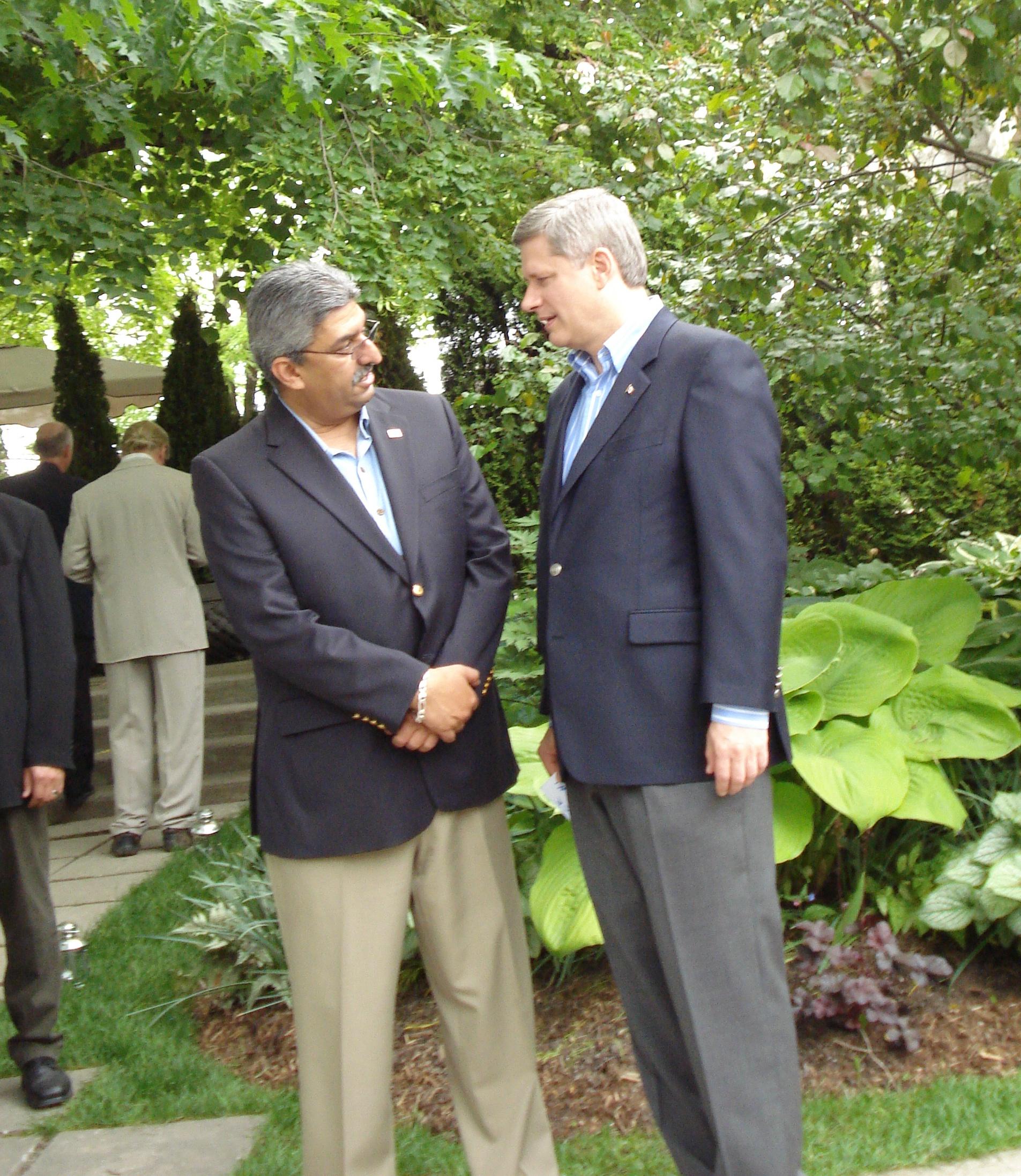 At residence of Prime Minister Steven Harper