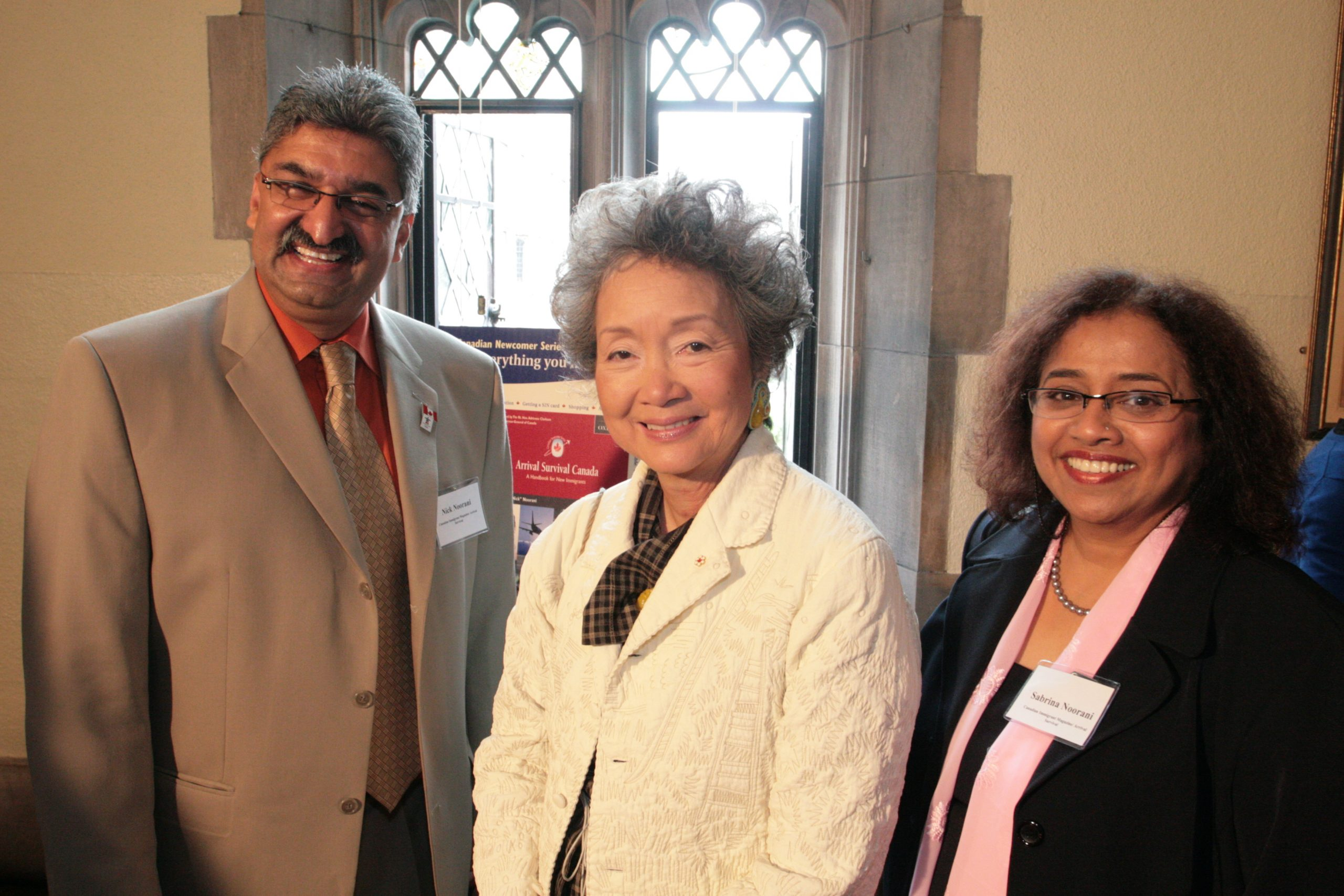 Hon. Governor General Adrienne Clarkson launch of Arrival Survival Canada