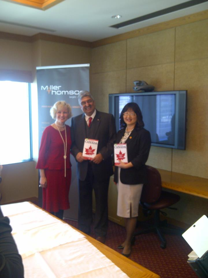 Launch of Canada Countdown book with co-author Catherine Saas and Senator Yonah Martin